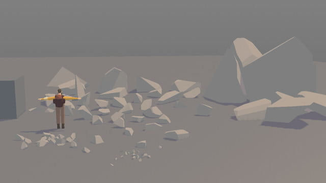 Seed Concept Art featuring another angle of rocks and boulders