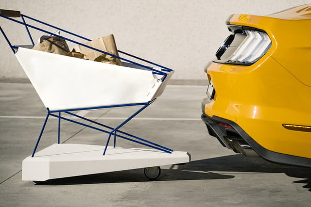 fords self braking shopping cart offers crash free supermarket trips trolley  could help to make shoppi