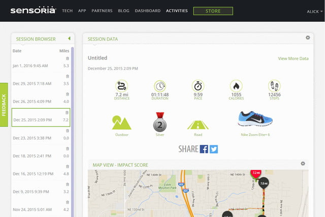 sensoria overhauls its app and unveils a fitness chip dashboard 3a