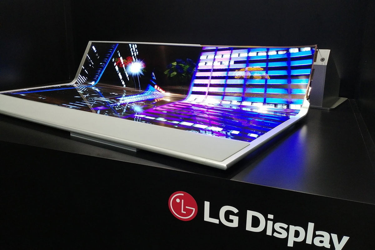 LG unveiled a translucent, rollable OLED so big you could use it as a blanket