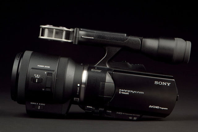 SONY NEX VG 30 Camcorder left side screen closed