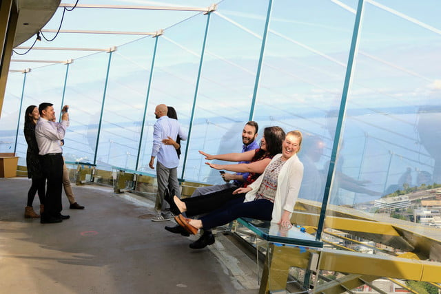 seattle space needle now has a revolving glass floor 3