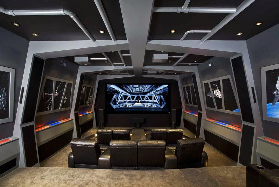 Pics of the best star wars inspired home theaters for Indoor game room ideas