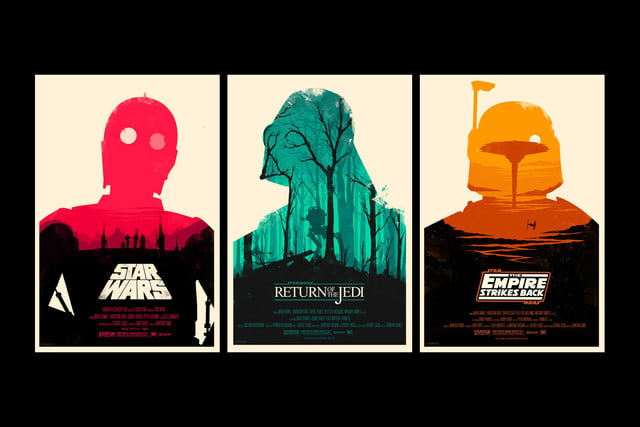 best stranger things style movie posters star wars trilogy by olly moss