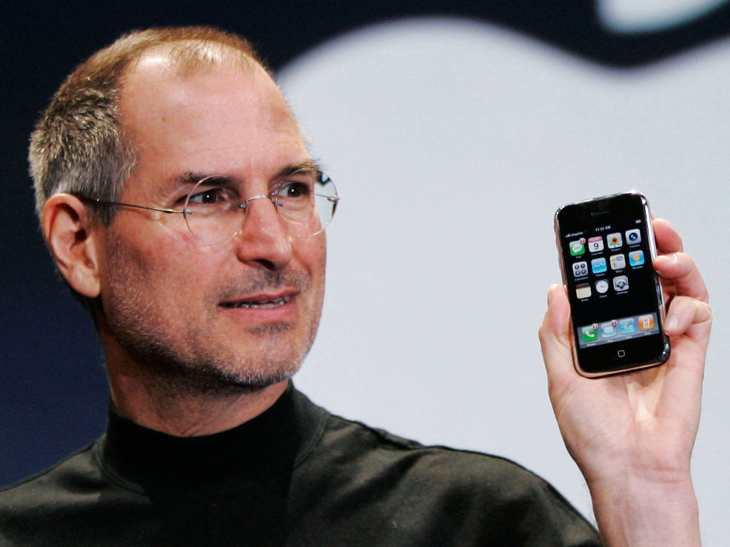 how steve jobs changed everything and what we ll miss out him steve jobs holding iphone