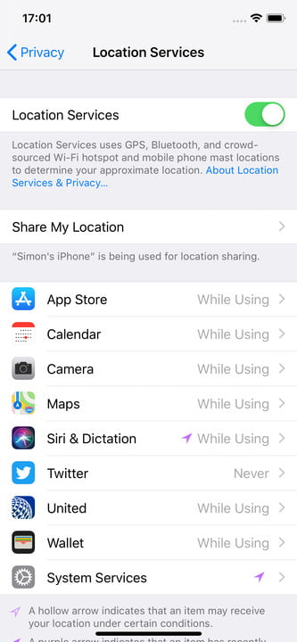 stop apps tracking location iphone 3