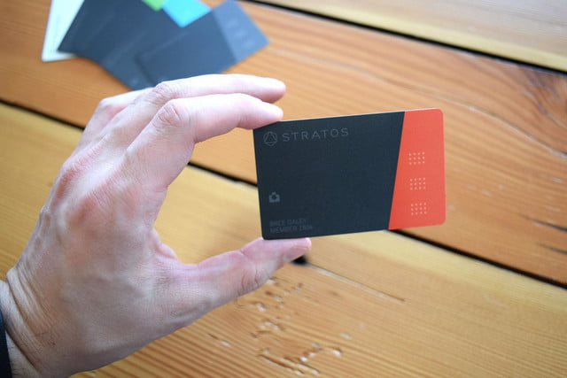stratos smart credit card review in hand