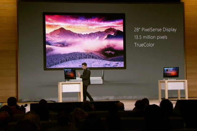 microsoft event surface studio on stage