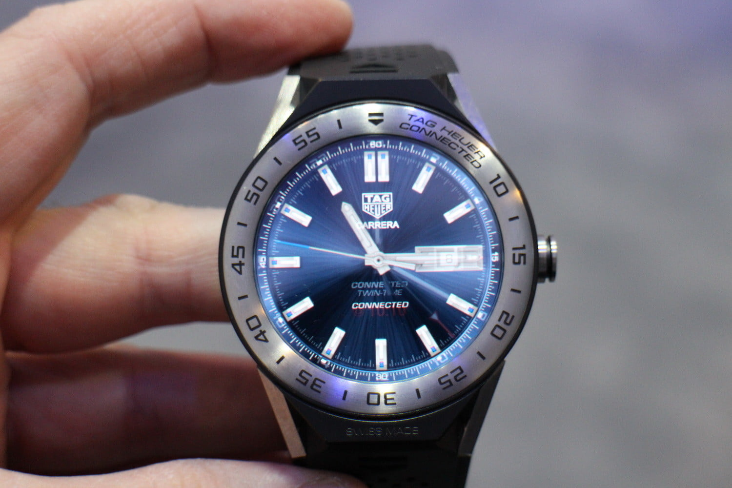 Tag heuer connected modular 45 first impressions review digital trends for The tag heuer connected modular