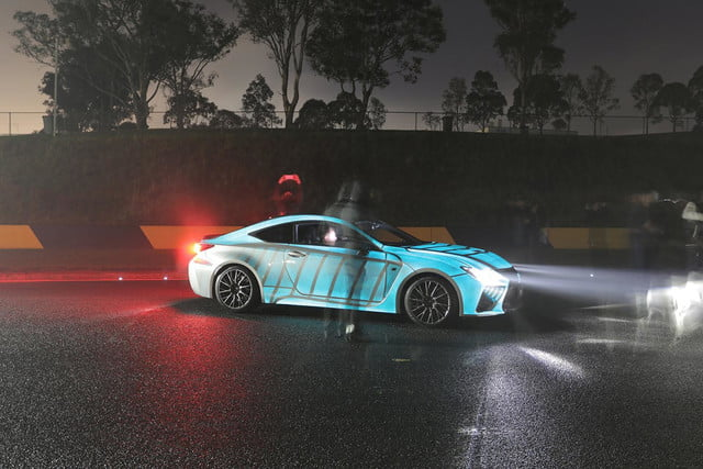 lexus rc f glowing heartbeat paint job pictures video techly lumilor coupe 4