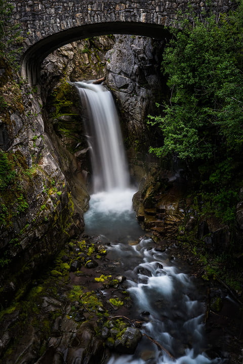 lightroom texture slider may 2019 update example  positive applied to wall and trees negative waterfall