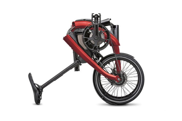 general motors cycles into a new market with its first ever ebikes the ar  v merge folds easily allowing customers to conveni