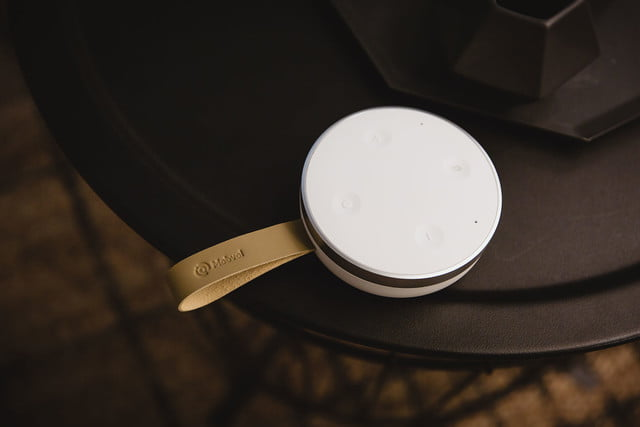 the tichome mini is a portable google assistant speaker review
