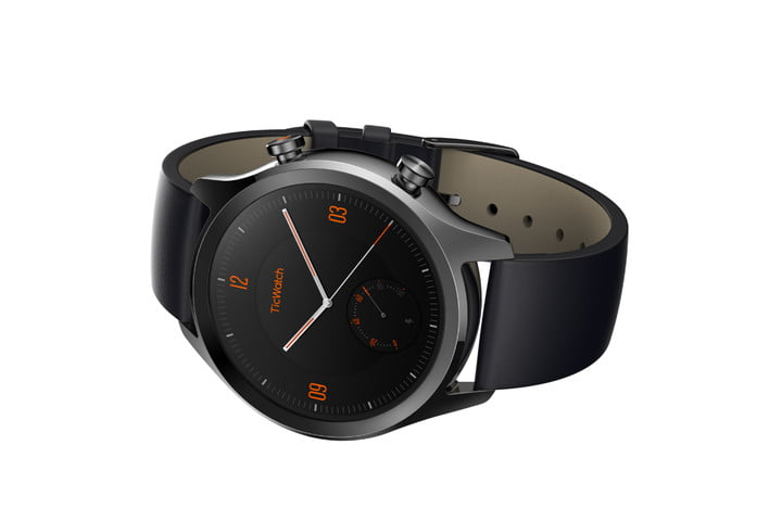 mobvoi ticwatch c2 ticpods free news black front