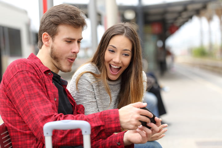 tinder dating app couple laughing smart phone embarass bryson and kate loling at u 720x720?ver=1 the best meme generator imgur, imagflip and more digital trends