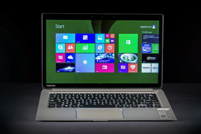 Toshiba Kirabook 2014 review front screen 2