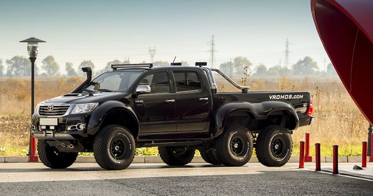 Toyota's indestructible Hilux gets a third axle for ...