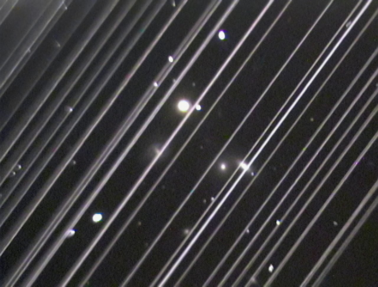 spacex satellites light pollution trails made by starlink