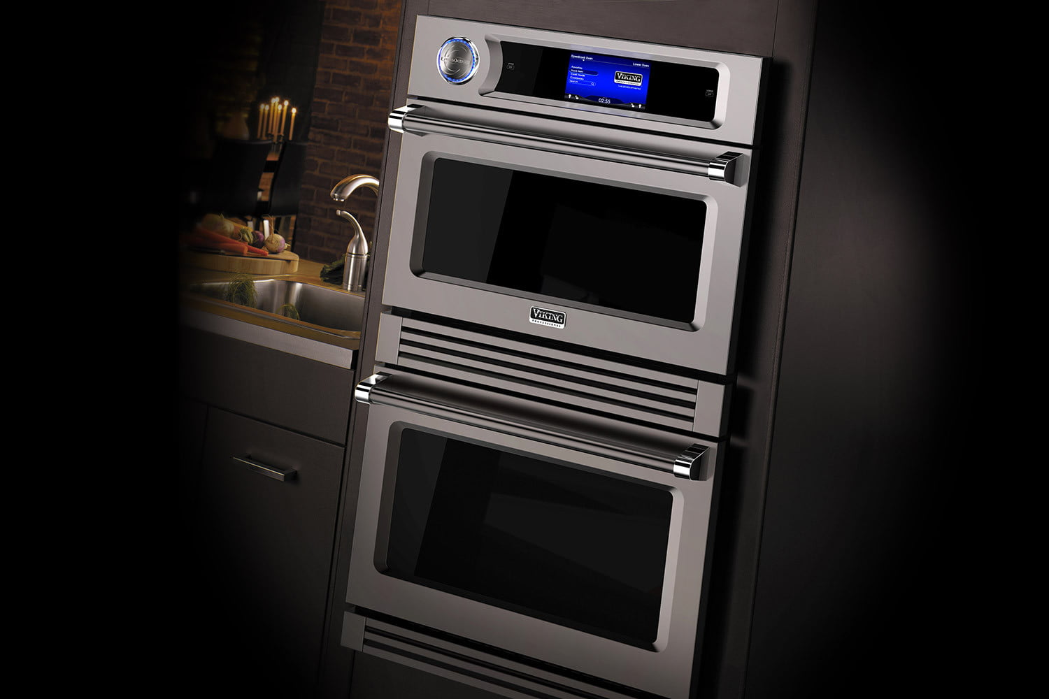 fuel viking freestanding front range toaster inch series dual view oven