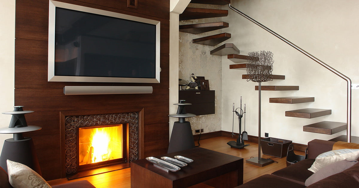 why you shouldn t mount your tv above your fireplace digital trends rh digitaltrends com wall mount tv on fireplace wall mount tv over fireplace hide cables