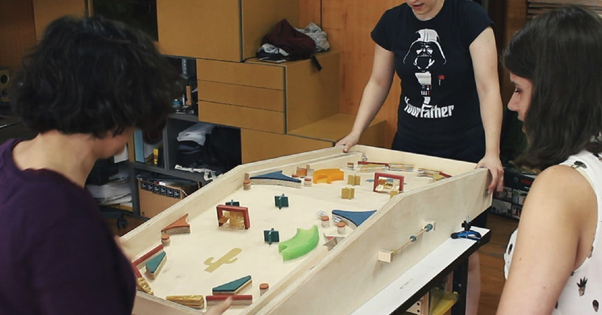 You Can Build This Awesome Two-Player Pinball Machine Yourself
