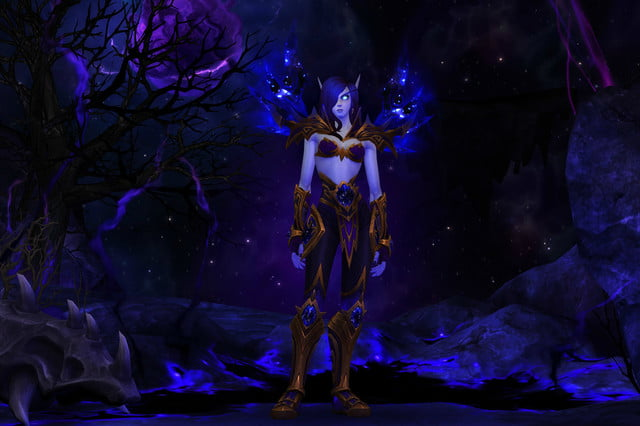 world of warcraft allied races guide void elf armor female
