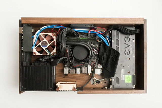 volta v is a sustainable long lasting handcrafted wood pc case 3
