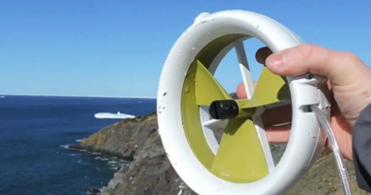 Waterlily Micro Turbine can charge your phone using wind or water