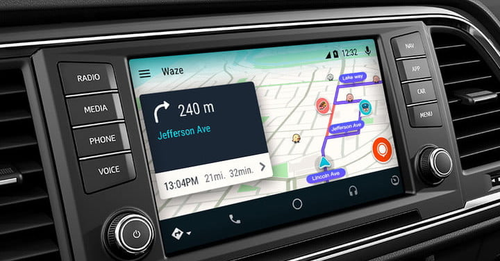 waze brings community sourced navigation to android auto digital trends. Black Bedroom Furniture Sets. Home Design Ideas