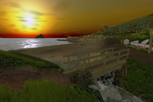 vr dentist office wembury sunset from footbridge
