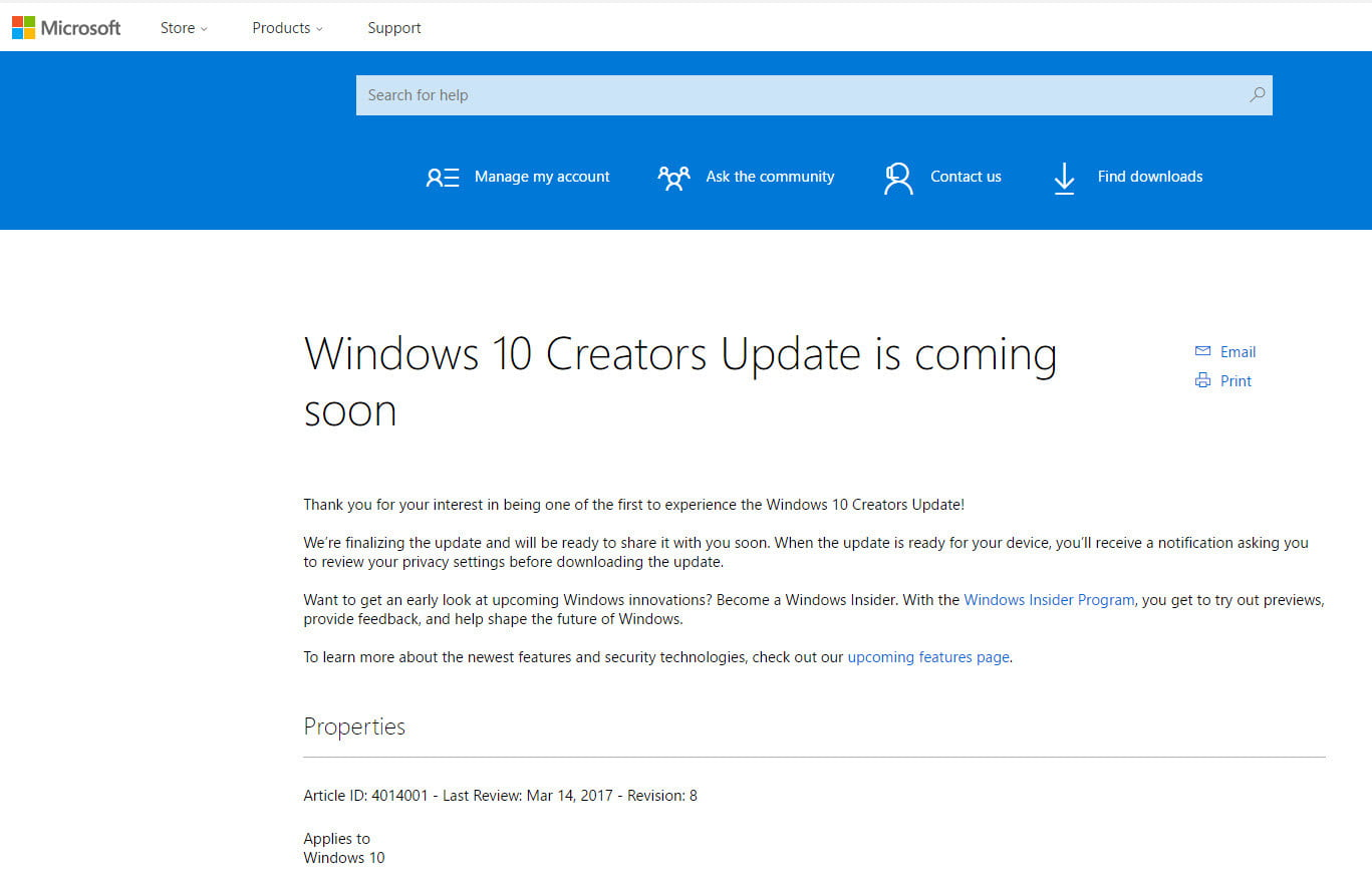 how to update to windows 10 2017