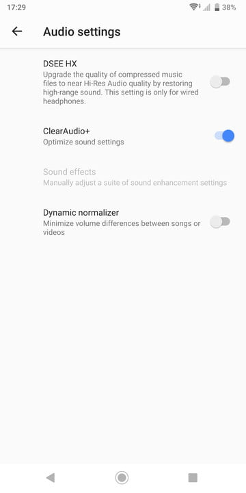 How to customize audio settings