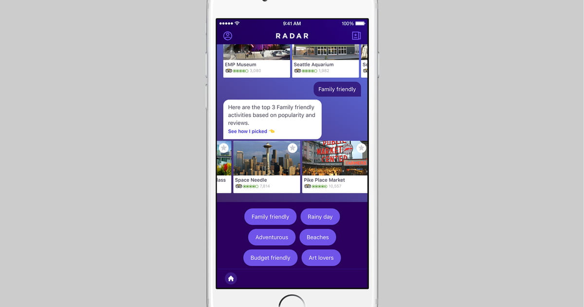 yahoo s new radar app wants to be your virtual travel guide. Black Bedroom Furniture Sets. Home Design Ideas