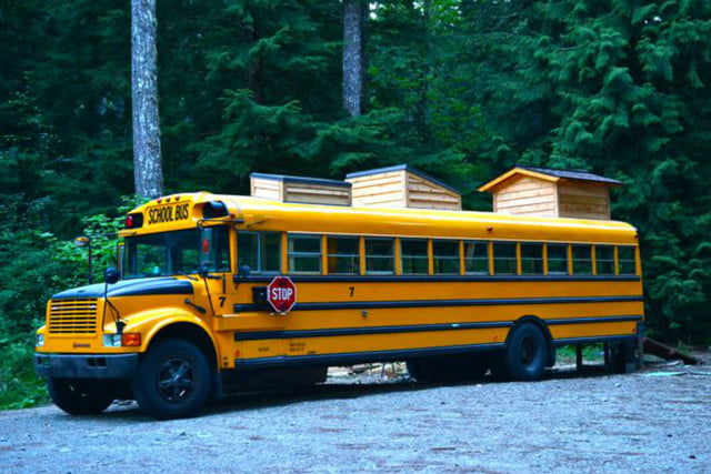 coolest bus to mobile home conversions yellowbus