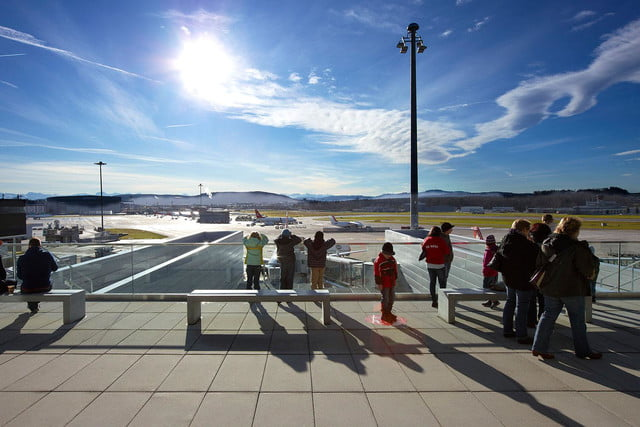 best airports for layovers z  rich airport observation deck b 3